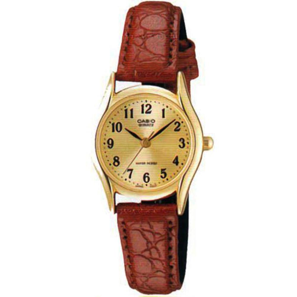 CASIO 經典復古氣質皮帶指針腕錶-黃面(LTP-1094Q-9B)/25mm