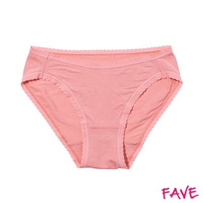 內褲 超細莫代爾中腰小褲-粉色 (M~XL)