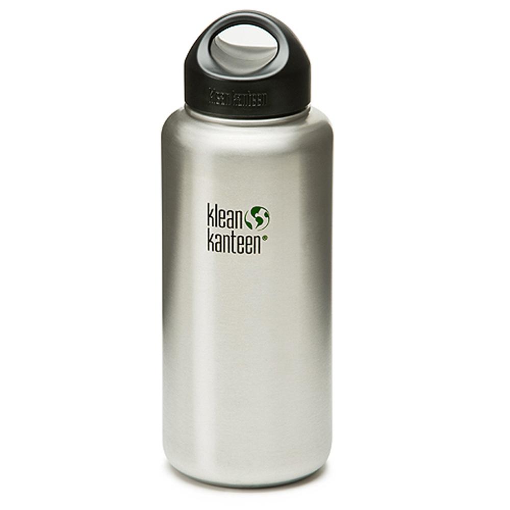 美國Klean Kanteen寬口鋼瓶1182ml-原鋼色