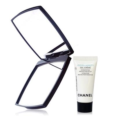 CHANEL香奈兒 山茶花保濕水凝霜5ml+巧妝鏡