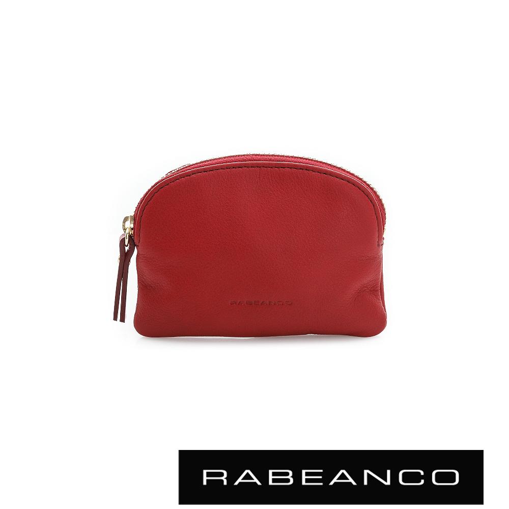 RABEANCO 迷色彩牛皮系列拉鍊零錢包 - 紅