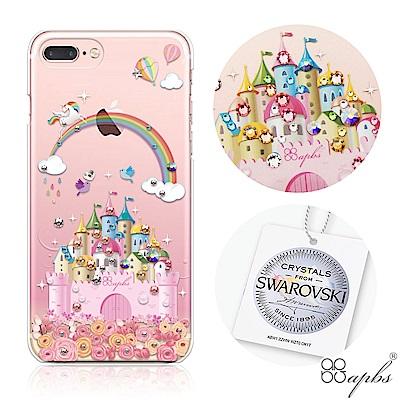 apbs iPhone8/7 Plus 5.5吋施華洛世奇彩鑽手機殼-童話城堡