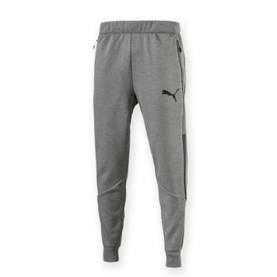PUMA-男性訓練系列束口棉質長褲-中麻花灰-歐規
