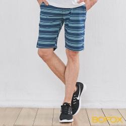 BOFOX 海軍風休閒短褲-深藍