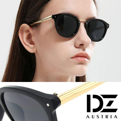 DZ 明星錐光采 抗UV太陽眼鏡 墨鏡(亮黑系)
