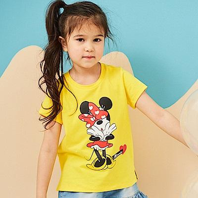 Disney 米妮系列害羞甜心圓領上衣 (2色可選)