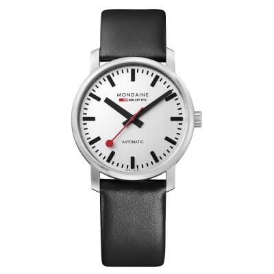 Mondaine 瑞士國鐵Vintage限量復古機械錶-銀/ 41mm