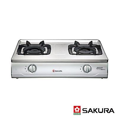 SAKURA櫻花牌 雙環內燄火不鏽鋼傳統式二口瓦斯爐 G-5700K