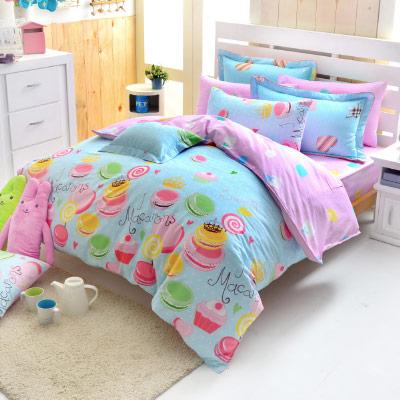 Grace Life 清麗閃亮 精梳純棉加大兩用被床包四件組