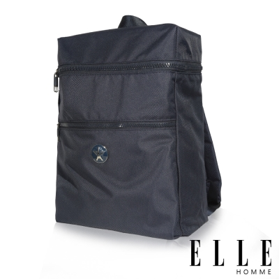ELLE-HOMME-巴黎風輕旅商務大容量機能後背包-藍