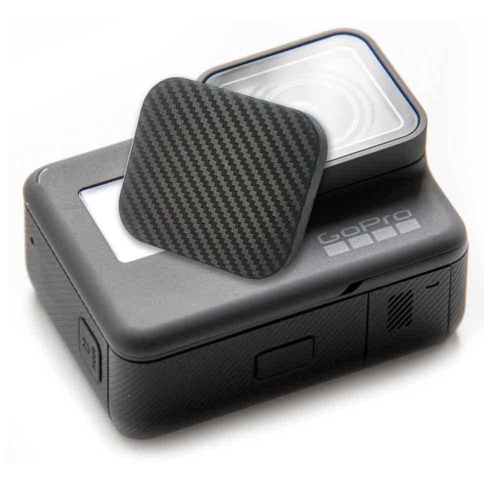 2入GoPro副廠HERO 5 carbon紋軟式主機鏡頭蓋保護蓋
