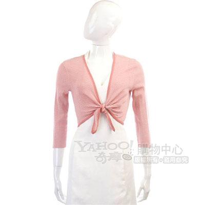 Kristina Ti 粉/白色條紋小外套