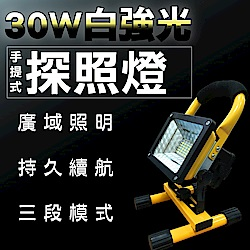 FJ 車內必備 LED防水手提移動探照燈W804(附贈認證電池)