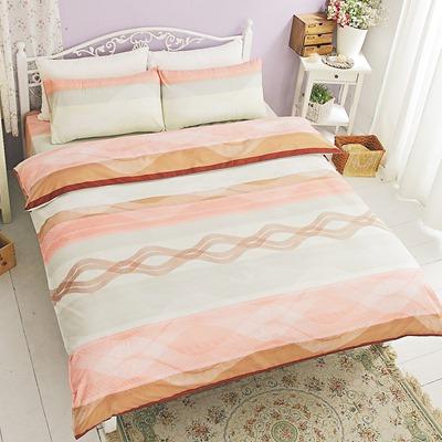 美夢元素-天鵝絨-床包被套四件組-加大(溫情地帶)