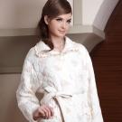 羅絲美睡衣 - 超柔細纖維點點小玫瑰睡袍 (優雅黃)