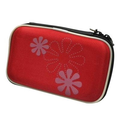 加購 2.5 吋外接式硬碟彩織紋防撞硬殼包 防撞包 硬碟包(紅)