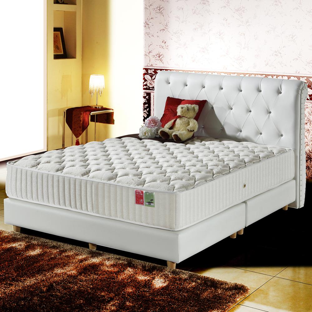 MG珍寶-蠶絲+乳膠抗菌-麵包型蜂巢獨立筒床墊-雙人5尺