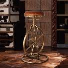 MUSE Battista巴蒂斯塔復古車輪牛皮吧台椅 W49*D54*H84~104 CM