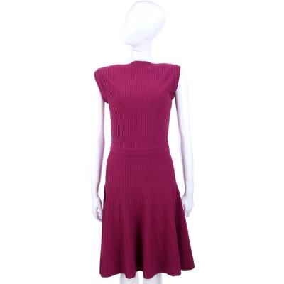 MARELLA 桃紫色條狀織紋洋裝