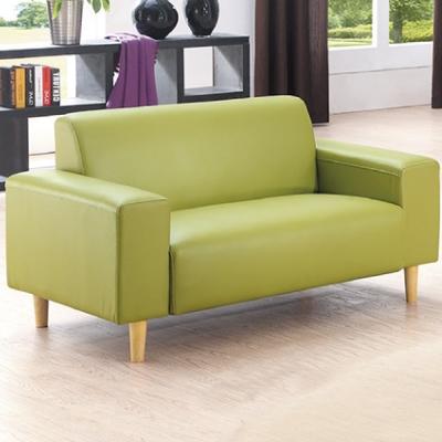 品家居 蘿莉舒適皮革雙人座沙發(三色可選)