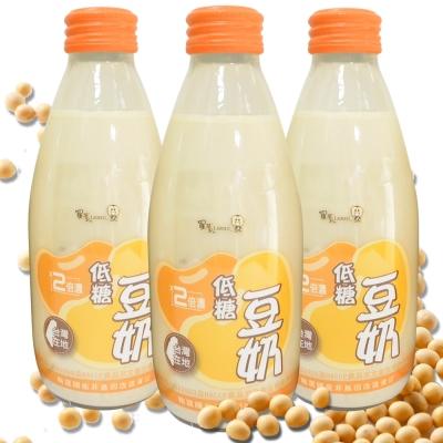 羅東農會 羅董2倍濃低糖台灣豆奶(24瓶/箱;245ml/瓶)