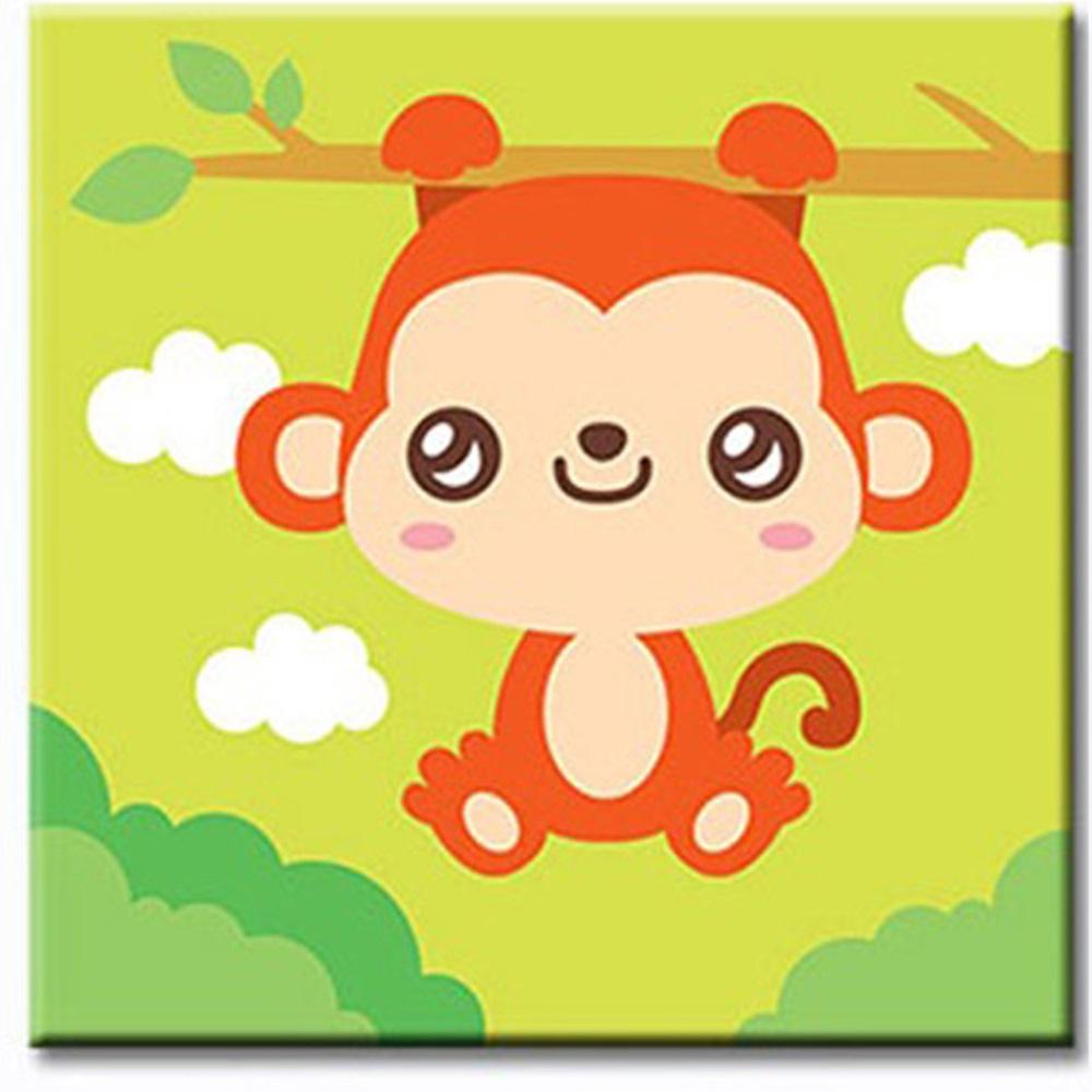 LOVIN 超萌韓版數字油畫 可愛猴(09)  1幅 20X20