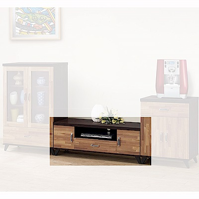 H&D 威爾森積層木4尺長櫃 (寬120X深40X高44.5cm)