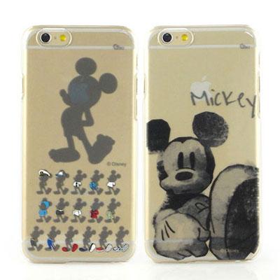 Disney iphone 6 /6s 彩繪手繪風透明保護手機殼