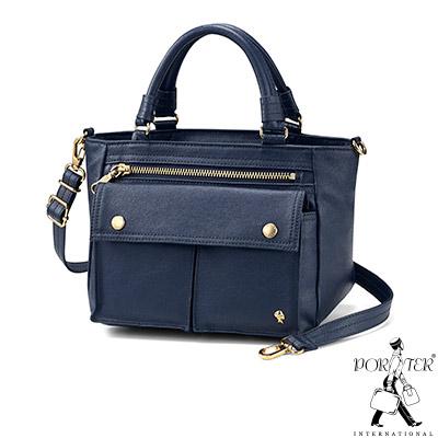 PORTER - 輕甜繽紛SPIRIT小型兩用復古手提包 - 深藍