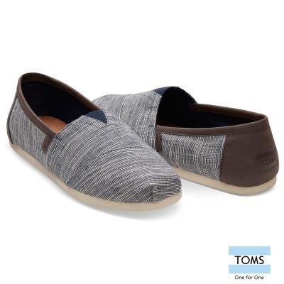 TOMS 皮革混細線懶人鞋-男款