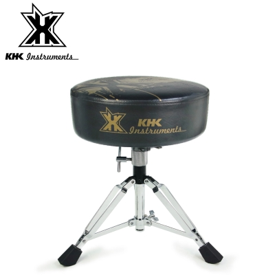 KHK DT1000C-GRK 強化鼓椅 黑底金標款