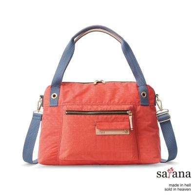 satana - 閒適斜背包/肩背包 - 珊瑚紅
