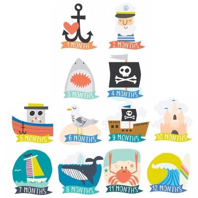 Lucy Darling 海軍海洋系列寶寶成長紀念成就貼紙