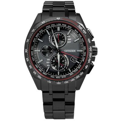 CITIZEN 限量輕質感電波光動能鈦金屬手錶(AT8145-59E)-鍍深灰/41mm