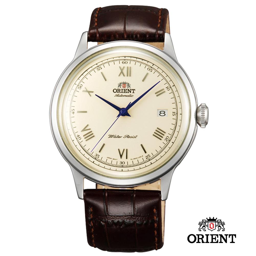 ORIENT 東方錶 DATEⅡ 皮帶機械錶-奶油色/40.5mm