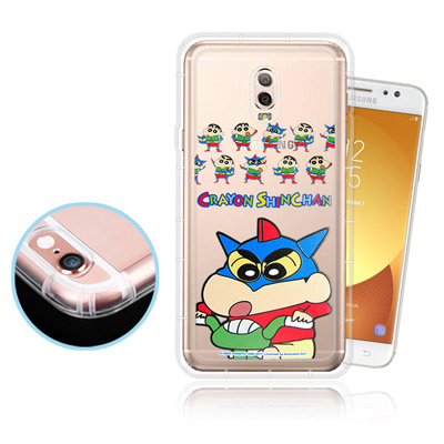 蠟筆小新 Samsung Galaxy J7+/J7Plus透明彩繪空壓保護殼(...