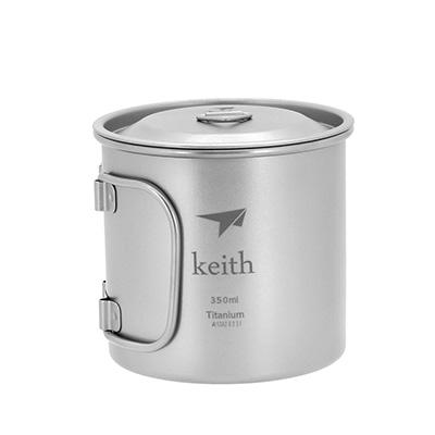 Keith純鈦 KS811摺疊水杯(350ml)