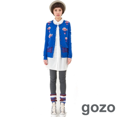 gozo-繽紛個性假兩件襪套內搭褲-共二色