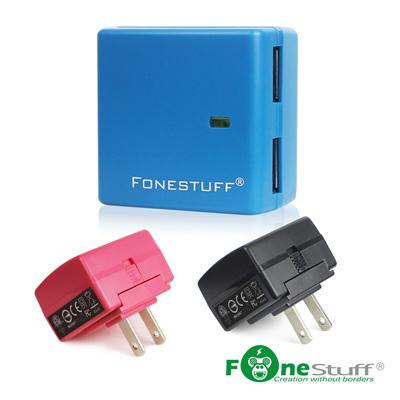 FONESTUFF瘋金剛5V/2.4A雙USB方塊插座充電器