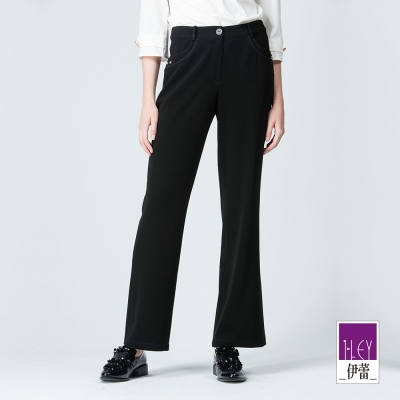 ILEY伊蕾 極簡質感百搭小喇叭褲體驗價商品(黑)