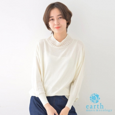 earth music 氣質高領長袖針織上衣