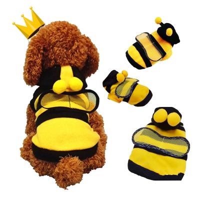 【摩達客寵物】超萌小蜜蜂保暖連帽貓咪狗狗衣服