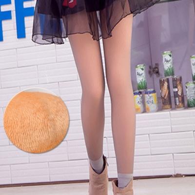 褲襪 光腿神器 韓國假透膚超顯瘦厚絨亮腿 灰透膚 ThreeShape