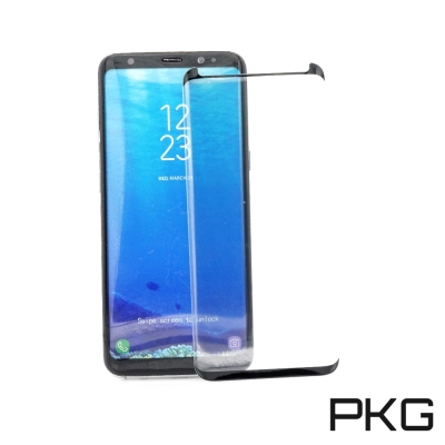 PKG SAMSUNG Galaxy S8 Plus 玻璃保護貼-(內縮版-黑邊...