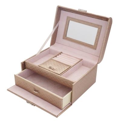 PARNIS BOX 香檳金 耳環 項鍊 戒指 收納 飾品04-3