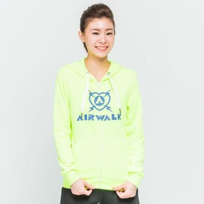 AIRWALK慢跑運動休閒連帽外套-淺黃
