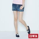 EDWIN 迷你俏皮 MISS BT503休閒短裙-女-石洗藍