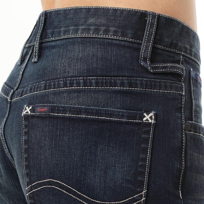 Lee 牛仔褲 726 中腰標準小直筒-男款-刷色-藍