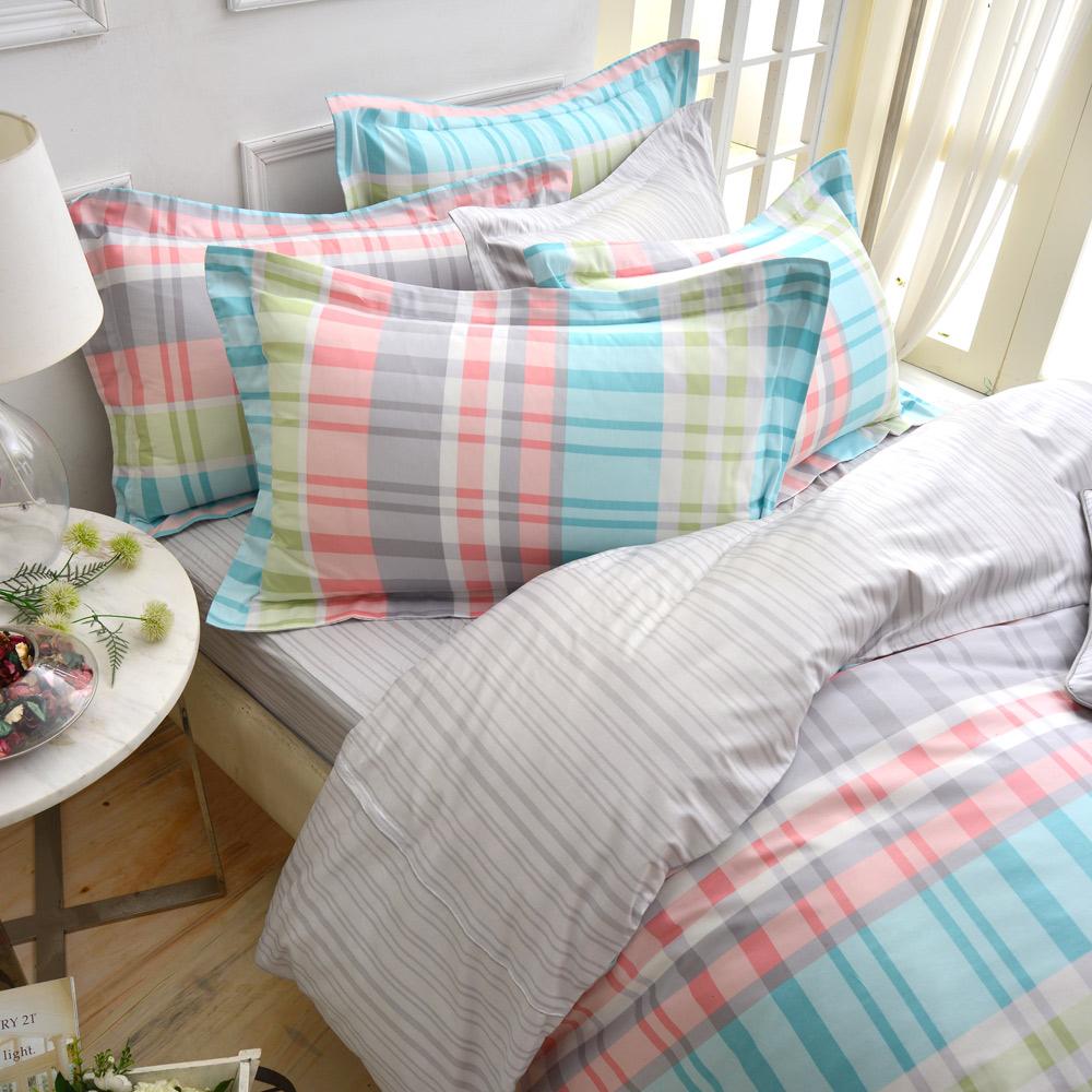 IN HOUSE-Glasgow dessert-精梳棉-加大四件式薄被套床包組