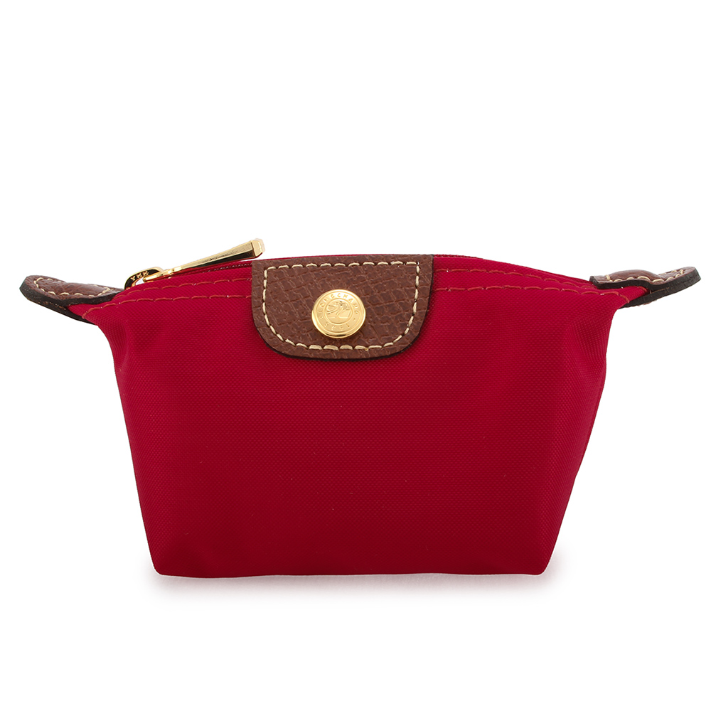 Longchamp Le Piage水餃零錢包-玫瑰紅